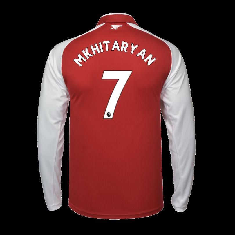 Arsenal Junior 17/18 Long Sleeved Home Shirt