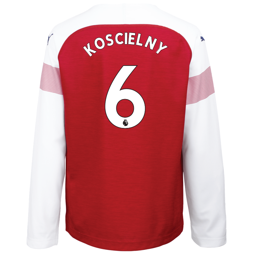 Arsenal Junior 18/19 Long Sleeved Home Shirt