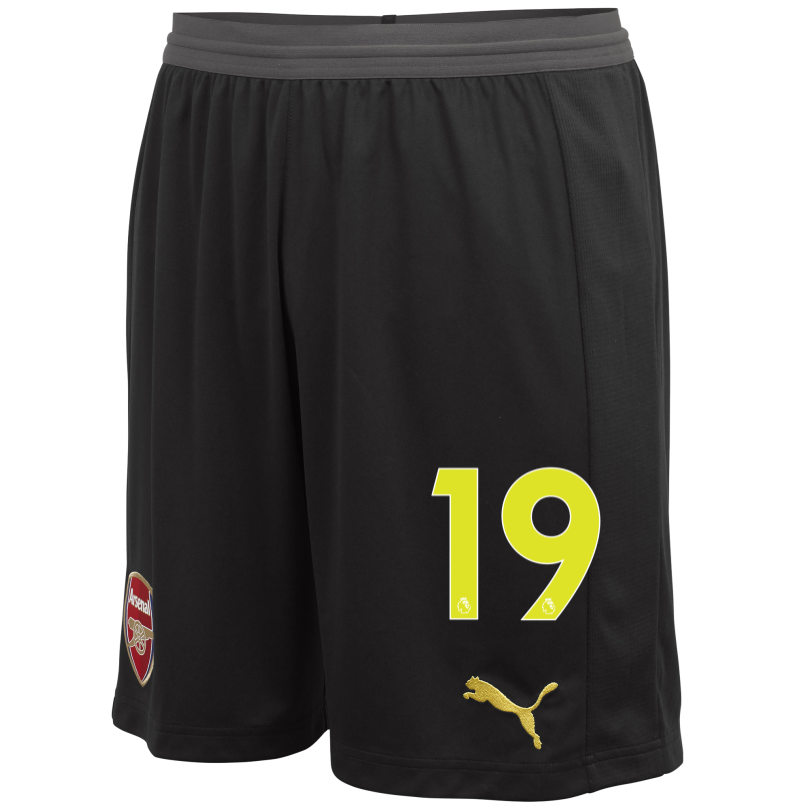 Arsenal Junior 18/19 Black Goalkeeper Shorts