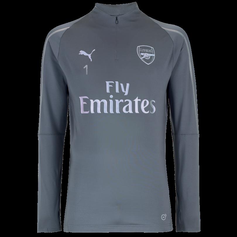 Arsenal Junior 18/19 Grey 1/4 Zip Training Top