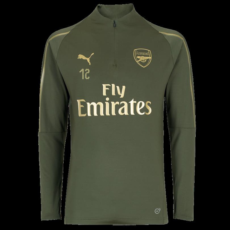 Arsenal Junior 18/19 Green 1/4 Zip Training Top