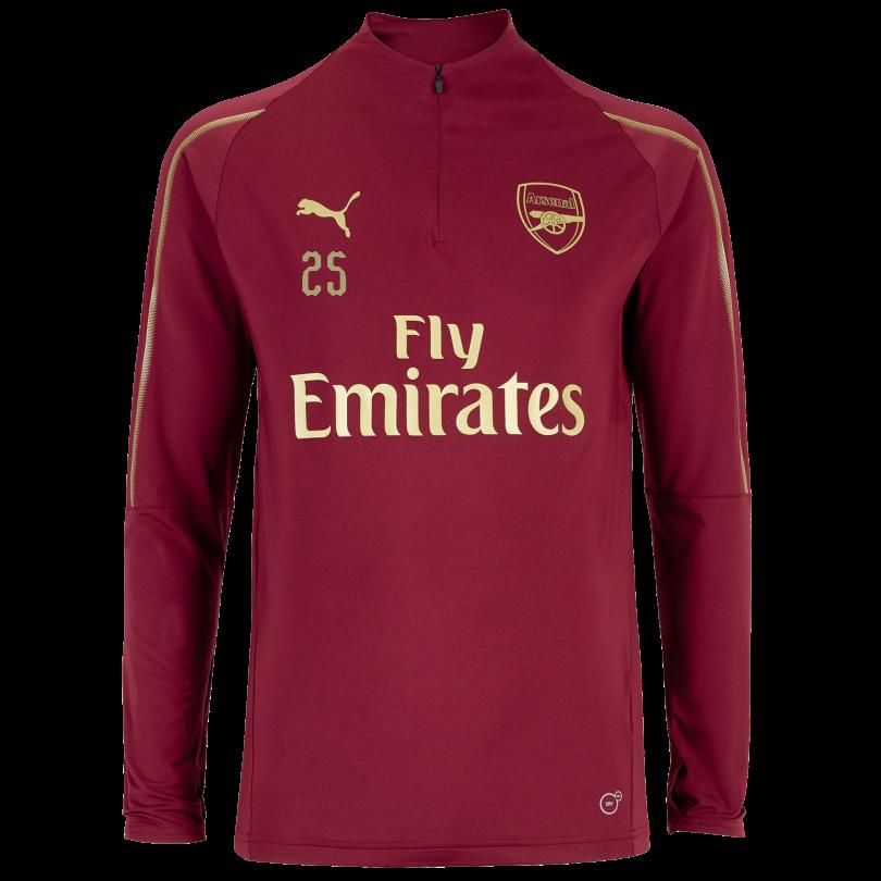 Arsenal Junior 18/19 Red 1/4 Zip Training Top