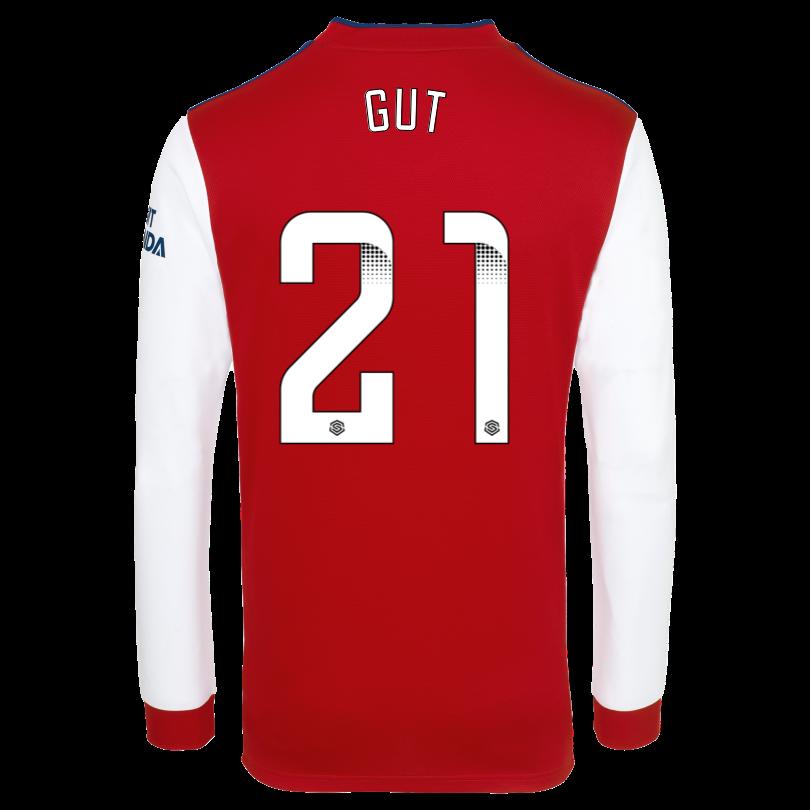 Arsenal Junior 21/22 Long Sleeved Home Shirt