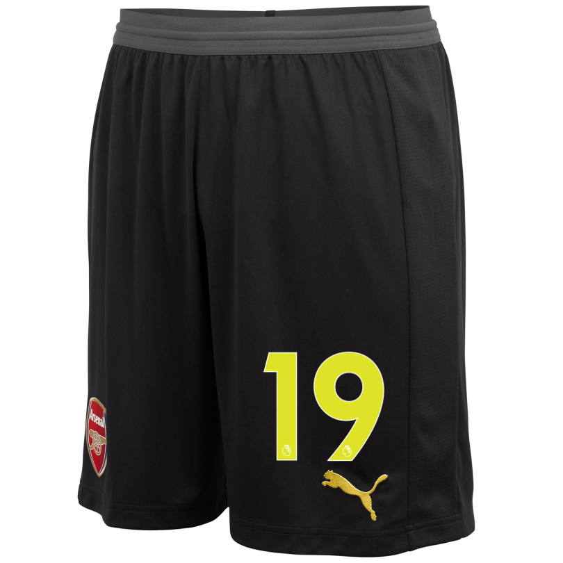 Arsenal Adult 18/19 Black Goalkeeper Shorts