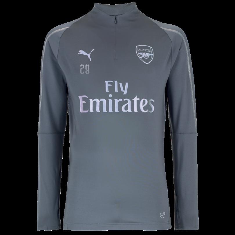 Arsenal 18/19 Grey 1/4 Zip Training Top