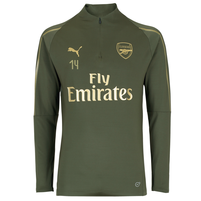 Arsenal 18/19 Green 1/4 Zip Training Top