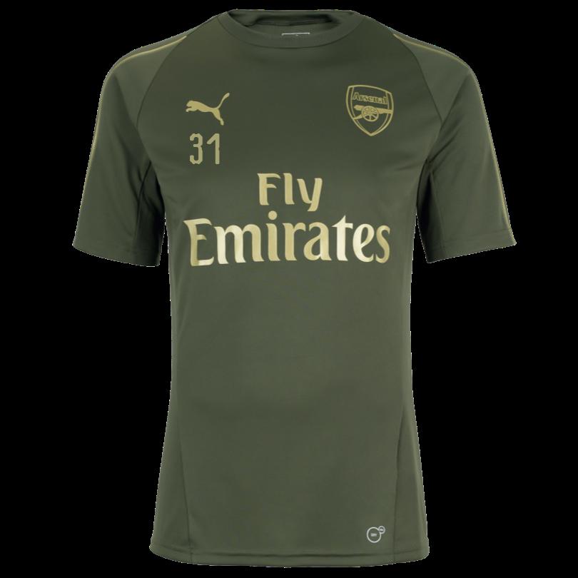 Arsenal 18/19 Green Training Shirt