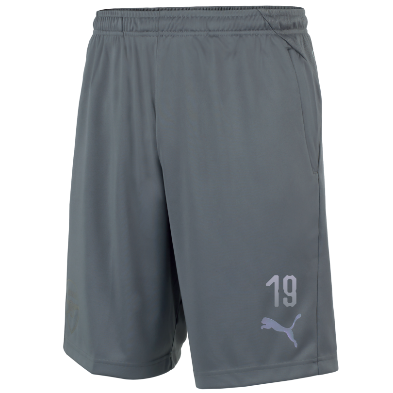 Arsenal Adult 18/19 Grey Training Shorts With Pocket