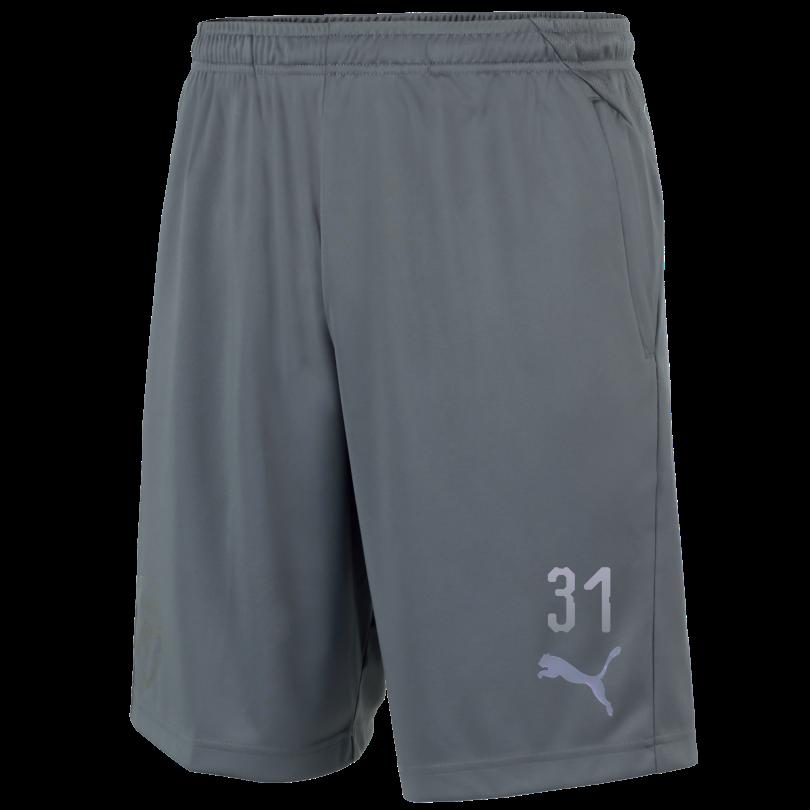 Arsenal Adult 18/19 Grey Training Shorts With Pocket