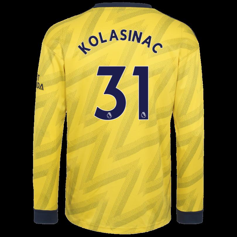 Arsenal Adult 19/20 Long Sleeved Away Shirt