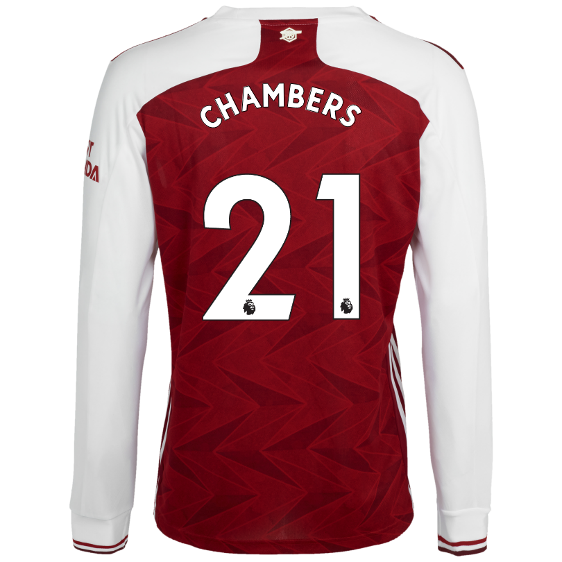 Arsenal Adult 20/21 Long Sleeved Home Shirt