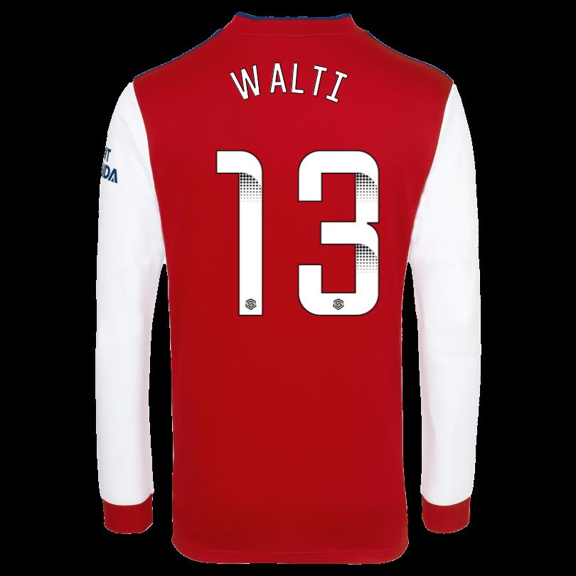 Arsenal Adult 21/22 Long Sleeved Home Shirt