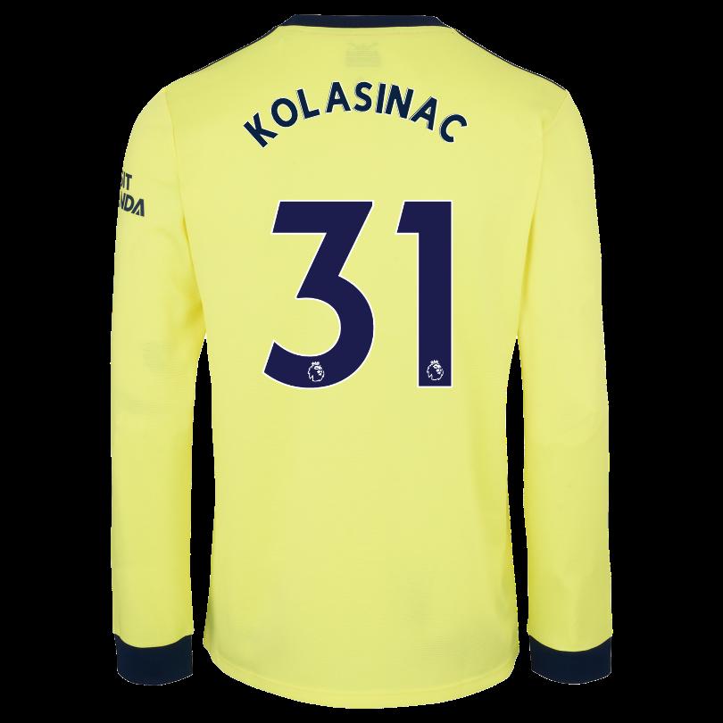 Arsenal Adult 21/22 Long Sleeved Away Shirt