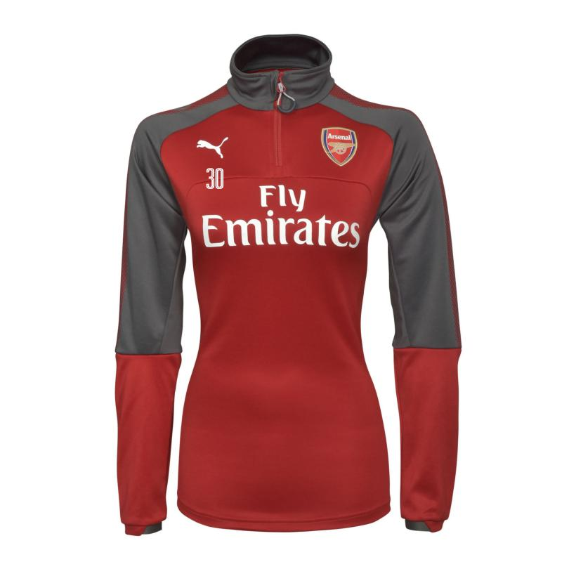 Arsenal Womens 17/18 1/4 Zip Home Training Top