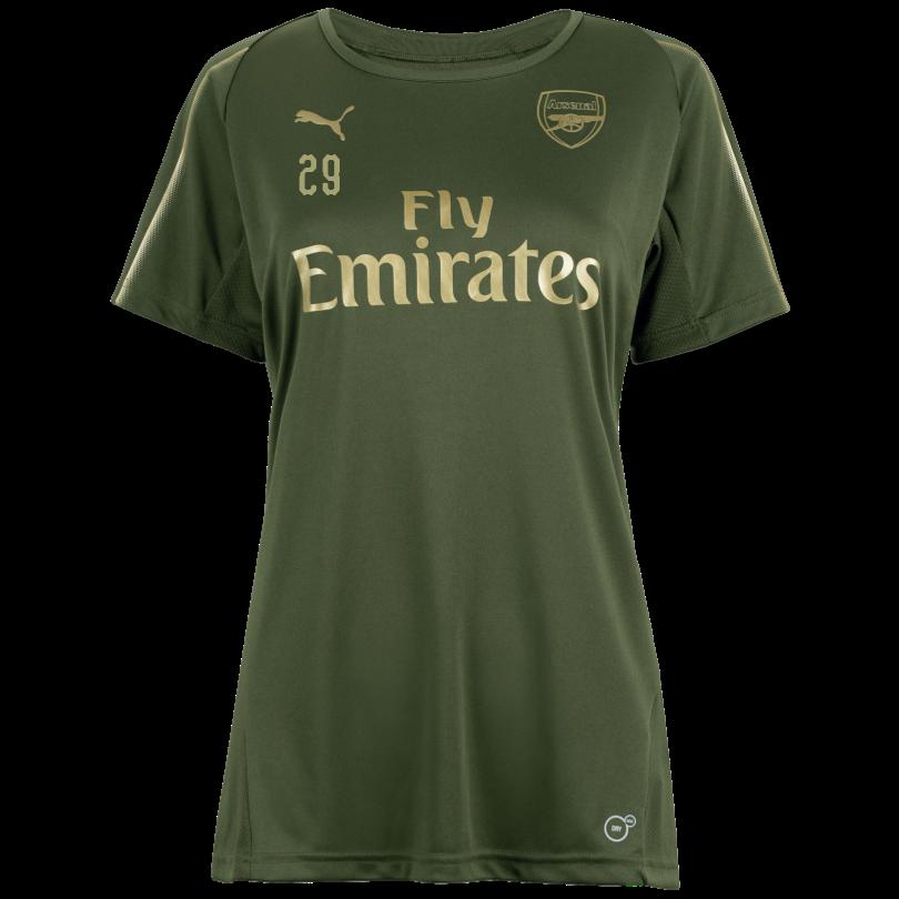 Arsenal Womens 18/19 Green Training Shirt