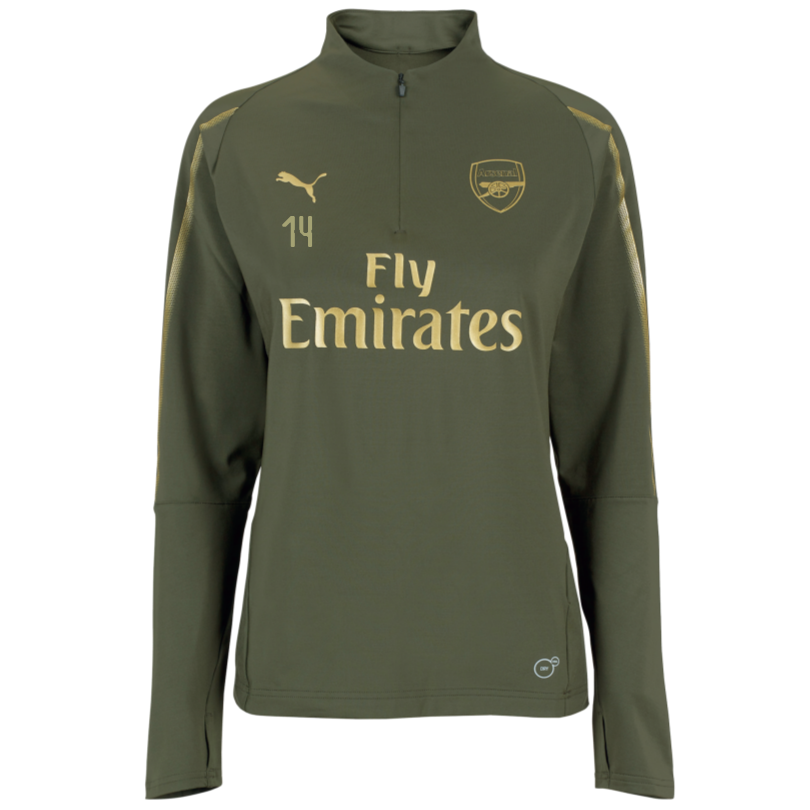 Arsenal Womens 18/19 Green 1/4 Zip Training Top
