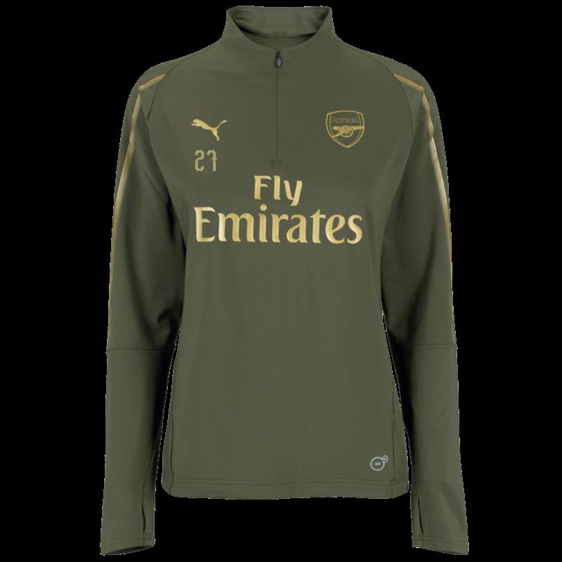 Arsenal Womens 18/19 Green 1/4 Zip Training Top