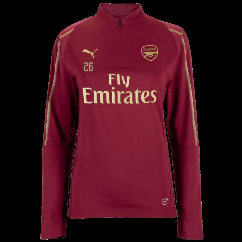 Arsenal Womens 18/19 Red 1/4 Zip Training Top