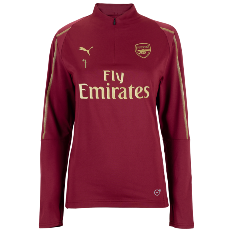 Arsenal Womens 18/19 Red 1/4 Zip Training Top