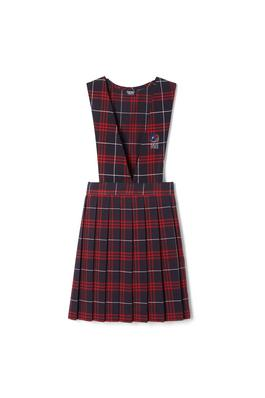 Amplience Product Image with Product code 1047,name  V-Neck Pleated Plaid Jumper