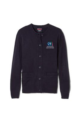 Amplience Product Image with Product code 1371,name  Anti-Pill Crew Neck Cardigan Sweater