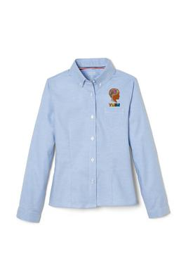 Amplience Product Image with Product code 1377,name  Long Sleeve Oxford Blouse with Princess Seams
