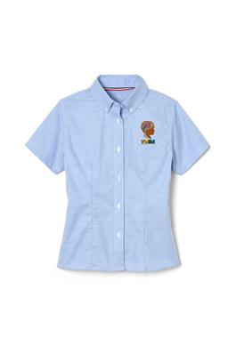 Amplience Product Image with Product code 1378,name  Short Sleeve Oxford Blouse with Princess Seams