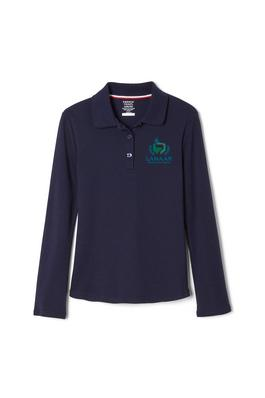 Amplience Product Image with Product code 1466,name  Long Sleeve Interlock Knit Polo with Picot Collar (Feminine Fit)