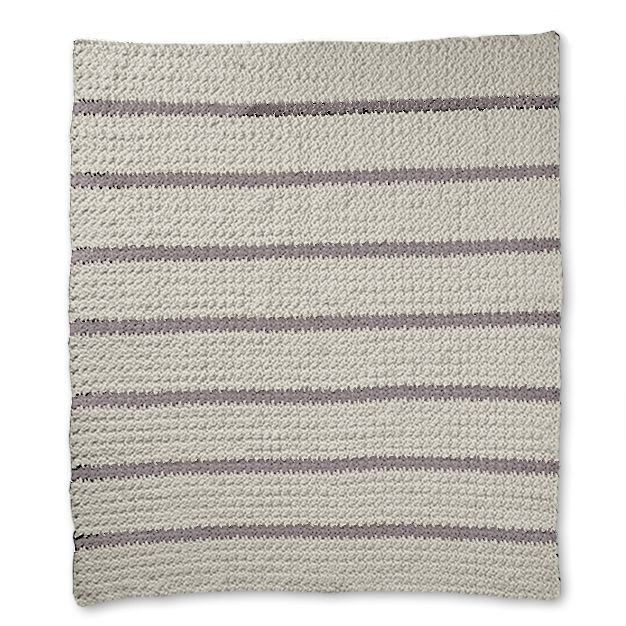 Bernat Pin Stripe Crochet Blanket Yarnspirations
