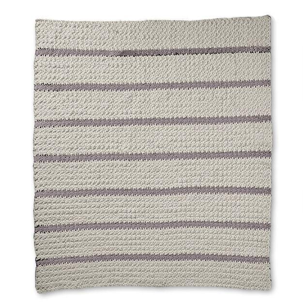 08c020b9c Bernat Pin Stripe Crochet Blanket