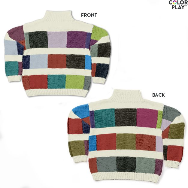 Caron x Pantone Color Swatch Knit Sweater, M Free Pattern ...