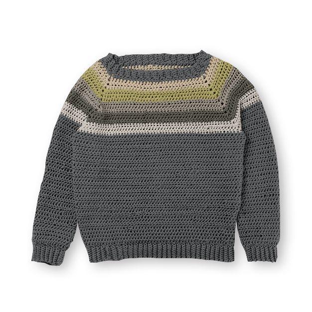 9542637de74b Caron x Pantone Crochet Colorwork Raglan Sweater